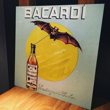 Decoratieve wandplaat Bacardi vierkantig vintage model 1