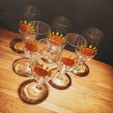 Set van 6 glazen Sangria Quint 50 cl tapvormig model