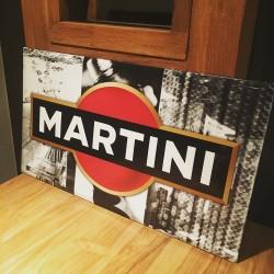 Plaque métallique Martini