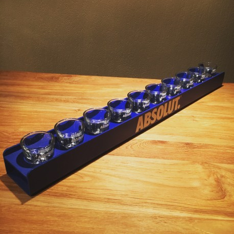 Mètre de shooters Absolut Vodka